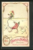 Sammelbild Reading & London, Huntley & Palmers Biscuits, Les Bains De Mer, Vermenschlichte Enten Am Strand - Vieux Papiers