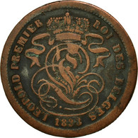 Monnaie, Belgique, Leopold I, 2 Centimes, 1833, TB, Cuivre, KM:4.1 - 1831-1865: Léopold I