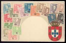 Postal Filatelico Com Selos D.Carlos. Old Postcard OTTMAR ZIEHER D.R.G.M. Portugal 1900s - Lisboa