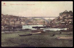 PORTO Ponte D.Luiz 1º E Serra Do Pilar. Old Postcard PORTUGAL 1900s - Porto