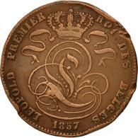 Monnaie, Belgique, Leopold I, 5 Centimes, 1857, TB, Cuivre, KM:5.1 - 1831-1865: Léopold I