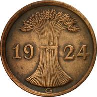 Monnaie, Allemagne, République De Weimar, 2 Rentenpfennig, 1924, Karlsruhe - [ 3] 1918-1933 : Weimar Republic