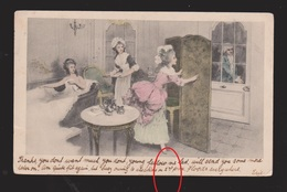 Young Ladies Bathing & Having Tea - Used In UK 1903 - Small Tear - Other