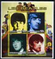 61487 Djibouti 2006 The Beatles Perf Sheetlet Containing 4 Values Unmounted Mint (music Pops) - Djibouti (1977-...)