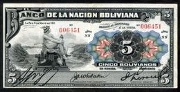 """BOLIVIA BILLETES; 1911 - """"5 BOLIVIANOS"""" DENOMINADOS """"MERCURIOS"""". - Bolivië"""