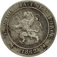 Monnaie, Belgique, Leopold I, 5 Centimes, 1862, TB, Copper-nickel, KM:21 - 1831-1865: Léopold I.