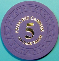 $5 NCV Casino Chip. Princess Cruise Line. E71. - Casino