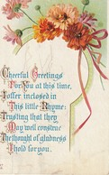 Cheerful Greetings For You At This Time, I Offer Inclosed In This Little Rhyme: Trusting .  .  .  .  .  .  . - Greetings From...