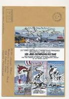 T.A.A.F - Enveloppe Port Aux Français Kerguelen - 1/04/2002 - Bloc Jeux Olympiques Des TAAF - Terres Australes Et Antarctiques Françaises (TAAF)