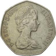 Monnaie, Grande-Bretagne, Elizabeth II, 50 New Pence, 1976, TB+, Copper-nickel - 1971-… : Monnaies Décimales