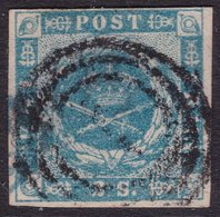 CLASSIC DENMARK 1855 IMPERF 2SK FINE 4 MARGINS - Oblitérés