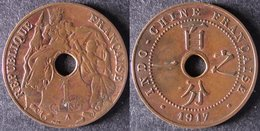 INDOCHINE  1 Cent 1917   INDOCINA  INDOCHINA    PORT OFFERT - Vietnam