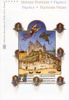 """Document Officiel De 4 Pages De 2006 """" FRANCE - ONU """" N° YT 3923 24 + TIMB. ONU ( Tour Eiffel ). DPO - Emissions Communes"""