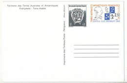 TAAF - Entier Postal N°2 - Carte Postale, Neuve - Enteros Postales