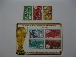 Redonda  1978 World Cup Football MS Overprinted On Antigua - Antigua And Barbuda (1981-...)