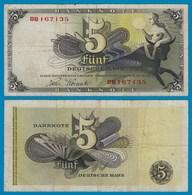 BDL - 5 Deutsche Mark 9-12-1948  Ros. 252c VF (3) 8B 167135    (20995 - 1949-…: BRD