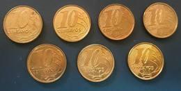 LSJP 7 COINS 10 CENTS  2011-2017 - Brésil