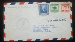 O) 1945 EL SALVADOR, GENERAL JUAN J. CALAS SCT A150 8c - CEIBA TREE SCT A152 2c - ALBERTO MASFERRER SCT AP29 12c, AIRMAI - El Salvador