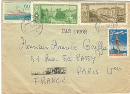 1954- Cover From Moscou To Paris  -fr. 180 Kon - 1923-1991 URSS