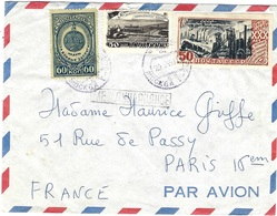 1955- Cover From Moscou To Paris  -fr. 160 Kon - 1923-1991 URSS