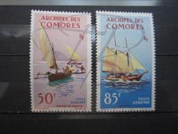 VEND BEAUX TIMBRES DE POSTE AERIENNE DES COMORES N° 10 + 11 , X !!! - Poste Aérienne