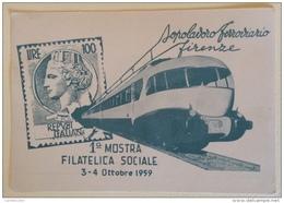 1 Mostra Filatelica Sociale 3/4 Ottobre 1959 - Philatelic Exhibitions