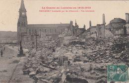 Cp , MILITARIA , La Guerre En Lorraine En 1914-1915, BACCARAT Bombardé Par Les Allemands, Vue Intérieure - Guerra 1914-18