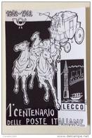 Lecco 1 Centenario Delle Poste Italiane 1862-1962 - Posta