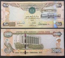 UNITED ARAB EMIRATES UAE NEW 200 Dirhams, AED, 2017 (2018) UNC Banknote - Emirats Arabes Unis