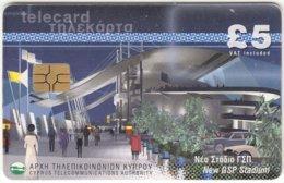 CYPRUS A-523 Chip Telecom - Architecture, Stadium - Used - Cyprus