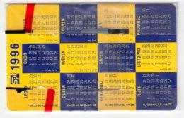 CZECH REP. D-087 Chip Telecom - Calendar 1996 - In Blister - Czech Republic