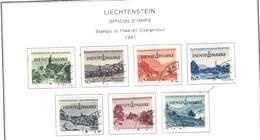 Liechtenstein Official 1947 Stamps Ovpr.  Scott.O 30/36 See Scan On Scott.Page - Dienstpost