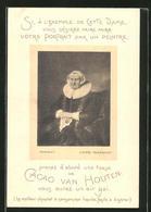 Sammelbild Cacao Van Houten, Portrait De D'Apres Nach Rembrandt - Oude Documenten
