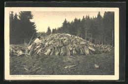 AK Meiler Vor Der Fertigstellung, Die Letzten Hohlräume Werde Noch Mit Kleinen Holzstücken Ausgefüllt, Forstwirtsch - Ansichtskarten
