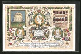 CPA Erinnerung A. Jahrhundertfeier I.d. Befreiungshalle In Anwesendheit König Ludwig III. 1913 - Familles Royales