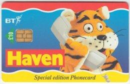 GREAT BRITAIN D-222 Chip BT - Cartoon, Animal, Cat, Tiger - Used - United Kingdom