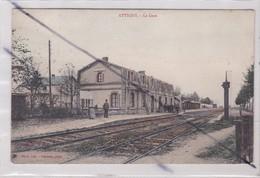 Attigny (08) La Gare En 1907 - Attigny