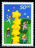 AX0505 Iceland 2000 Europa Children And Stars 1V MNH - Francobolli