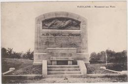 CARTE POSTALE   TIEULAINE 02  Monument Aux Morts - France