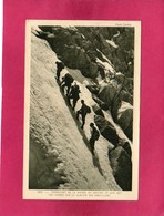 74 Hte Savoie, Chamonix, Transport De La Vierge Du Grepon 22 Juin 1927, Les Guides Sur Le Glacier Des Nantillons, 1933 - Chamonix-Mont-Blanc