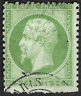 1862 -   YT  20   -  Napoleon III   5c - Oblitéré - Cote 10e - 1863-1870 Napoléon III Lauré