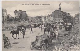CARTE POSTALE    REIMS 51  Rue Buirette Et Fontaine Subé - Reims