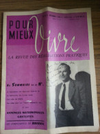 Revue 'Pour Mieux Vivre' - Décembre 1955, N°8 - Bourvil En Couverture - Haus & Dekor