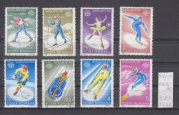 39K68 / 1984 - Michel  Nr. 4003/10 - Olympic Games, Sarajevo - Biathlon Figure Skating ** MNH Romania Roumanie - 1948-.... Republics