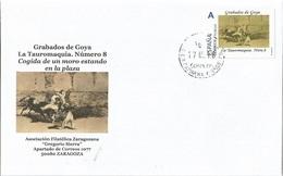 "SPAIN. COVER GOYA ENGRAVING. TAUROMAQUIA 8. ""TU SELLO"" - 1931-Hoy: 2ª República - ... Juan Carlos I"