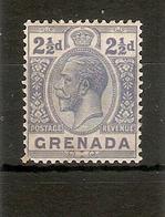 GRENADA 1926 2½d BRIGHT BLUE SG 119 MOUNTED MINT Cat £11 - Grenada (...-1974)