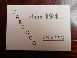 17357) GENOVA SCUOLA L' ARECCO INVITO 1945 CIRCA FORMATO 8.5 X 6 Cm - Diplomi E Pagelle