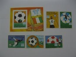 Ivory Coast 1978  World Cup Football SC#466-470,471 - Ivory Coast (1960-...)