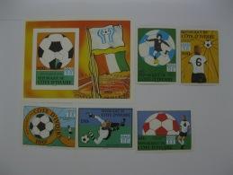 Ivory Coast 1978 World Cup Football SC#466-470,471 Imperf - Ivory Coast (1960-...)