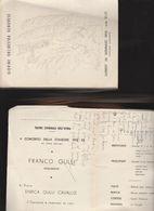 DOC3) GIOVINE ORCHESTRA GENOVESE V CONCERTO STAGIONE 1952 POESIA IN INGLESE  A MATITA SCRITTA DENTRO - Partecipazioni